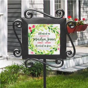 Floral Memorial Gifts | Personalized Garden Markers For Memorial