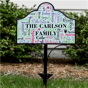 Personalized Bright Spring Word Art Magnetic Metal Yard Sign Set