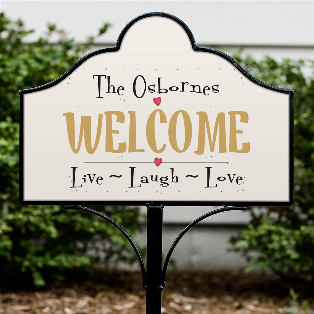 Personalized Live-Laugh-Love Magnetic Sign | Personalized Yard Signs