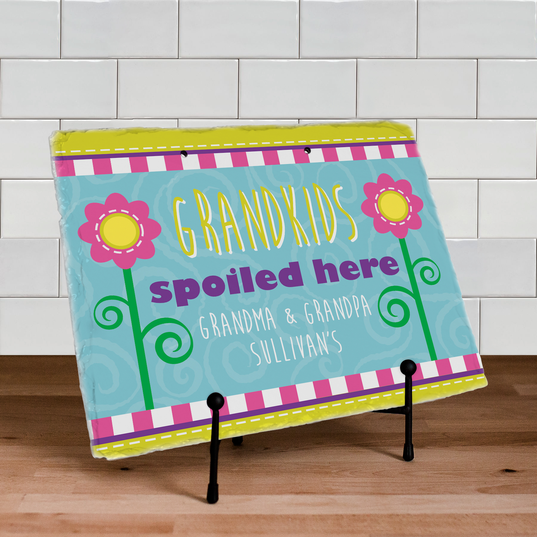 Personalized Grandparents Slate Plaque | Personalized Slate Signs