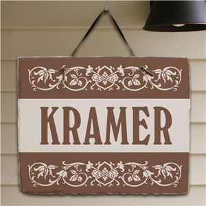 My Family Personalized Slate Plaque | Personalized Welcome Signs