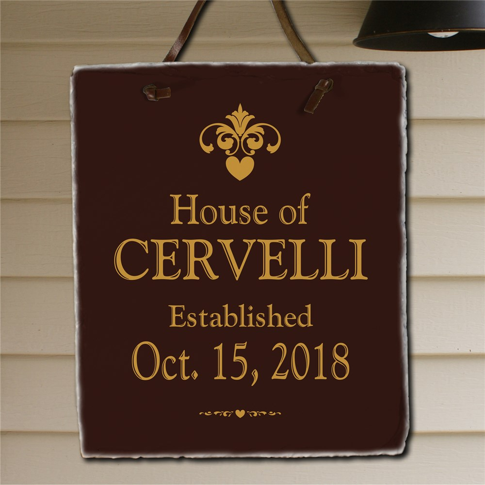 Our House Personalized Slate Plaque | Personalized Welcome Signs