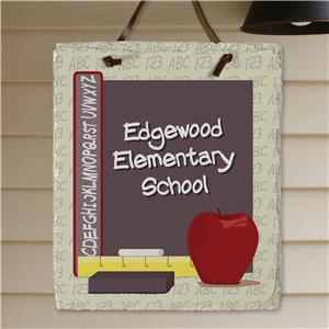Teacher's Class Personalized Slate Plaque | Personalized Teacher Gifts