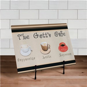 Personalized Cafe Kitchen Glass Cutting Board | Best Housewarming Gifts