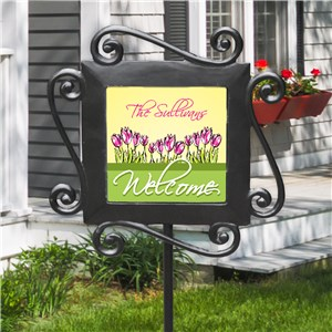 Flowers Welcome Sign | Personalized Sign with Flowers
