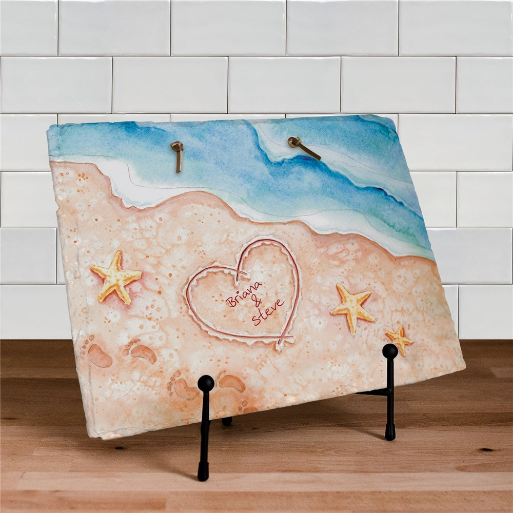 Shores of Love Personalized Slate Plaque | Personalized Welcome Signs