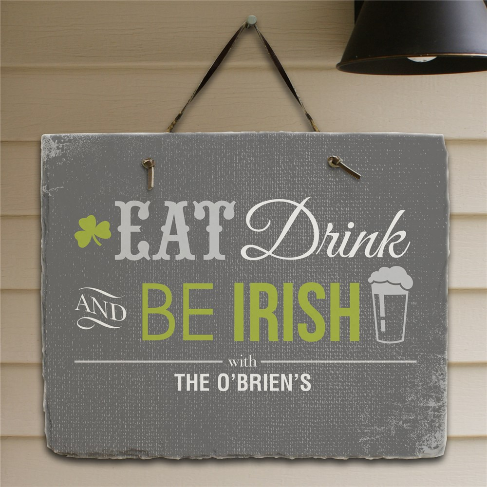 Personalized Irish Welcome Slate Plaque | Personalized Welcome Signs