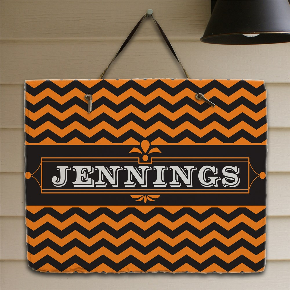 Personalized Halloween Family Slate Plaque | Personalized Welcome Signs