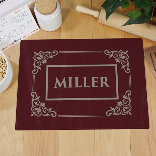 Personalized Filigree Cutting Board | Personalized Cutting Boards