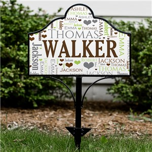 Family Word-Art Magnetic Personalized Yard Sign Set | Personalized Outdoor Signs
