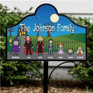 Halloween Characters Personalized Magnetic Sign Set | Personalized Halloween Character Sign