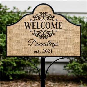 Personalized Welcome Magnetic Sign | Personalized Garden Sign Set