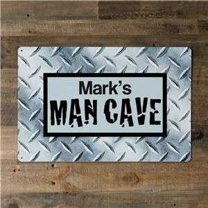 Personalized Man Cave Metal Wall Sign | Mancave Gifts