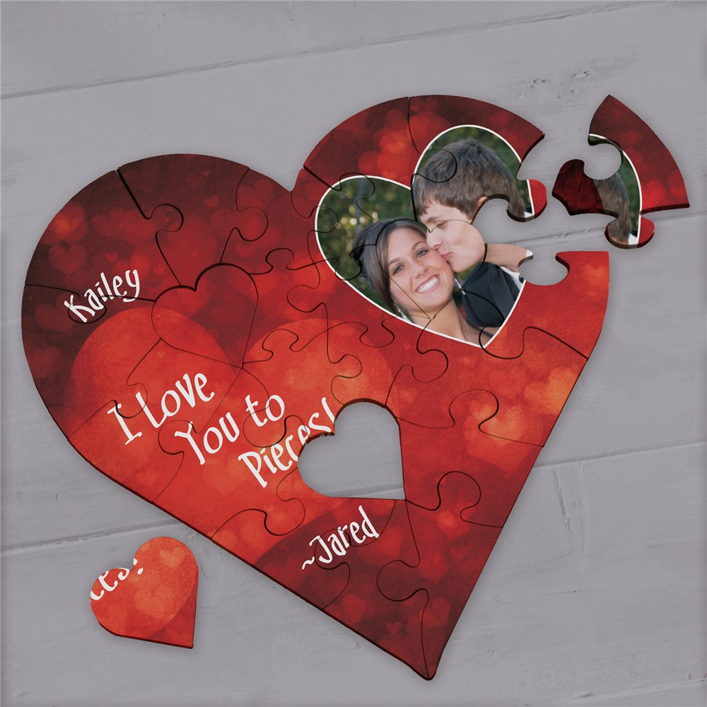 Personalized I Love You Jig Saw Puzzle | Personalized Valentine's Gifts Under $20