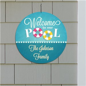 Personalized Summer Home Sign | Outdoor Pool Sign