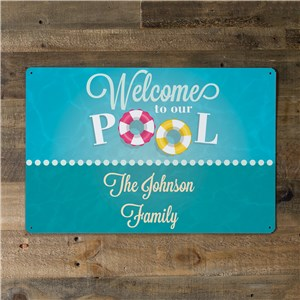 Personalized Swimming Pool Metal Wall Sign 643374