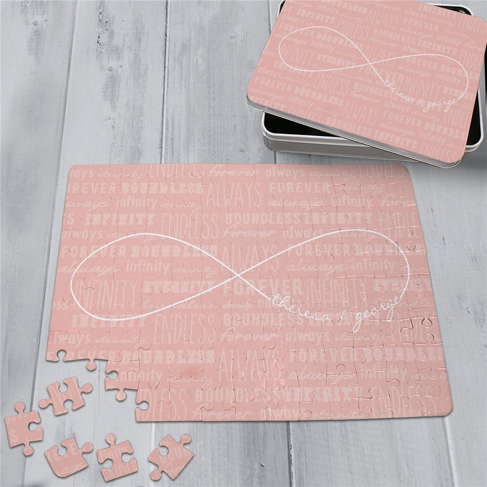 Personalized Infinity Symbol Puzzle and Tin | Romantic Home