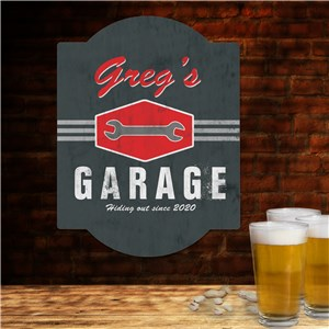 Garage Personalized Wall Sign | Personalized Gifts for Him