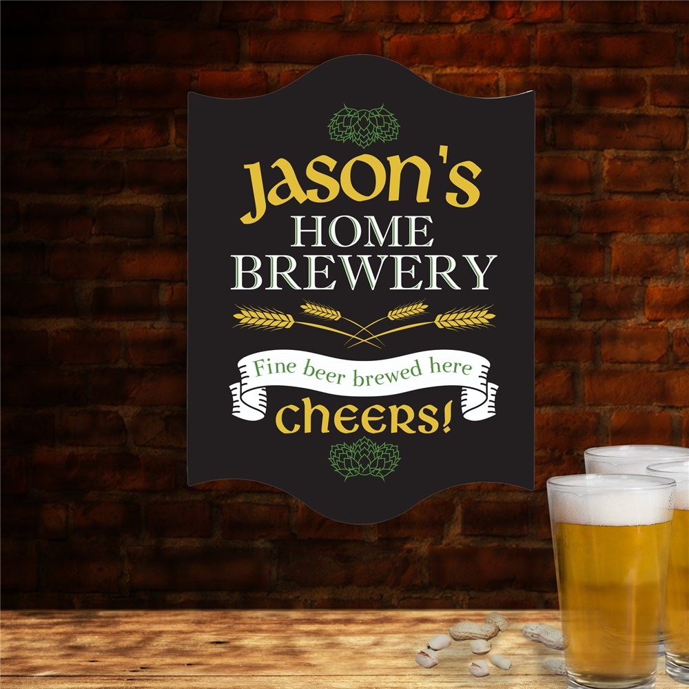 Personalized Home Brewery Wall Sign | Personalized Bar Signs