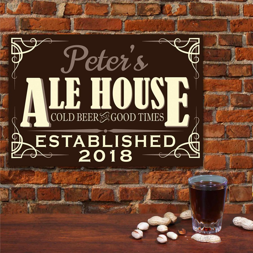 Ale House Personalized Wall Sign | Personalized Bar Sign