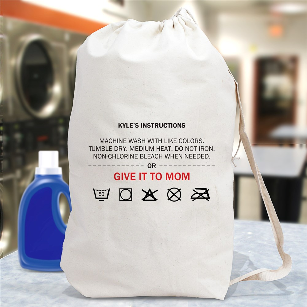Personalized Give It To Mom Laundry Bag | Personalized Graduation Gifts