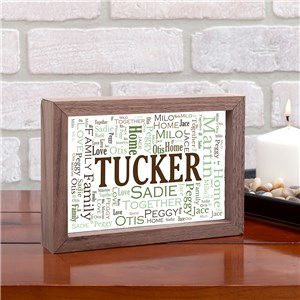 Family Word Art Table Top Sign