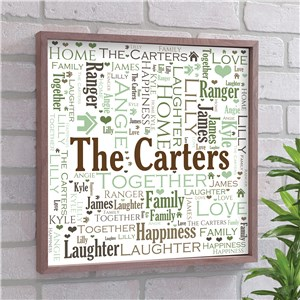 Personalized Wall Art | Framed Family Name Word Art