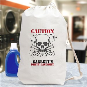 Personalized Caution Laundry Bag | Personalized Gifts
