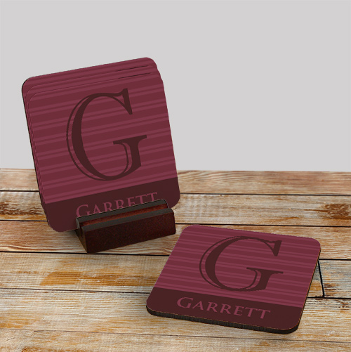 Personalized Drink Coasters | Personalized Father's Day Gifts