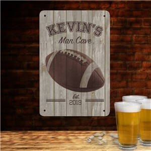 Personalized Football Man Cave Sign | Personalized Man Cave Gifts