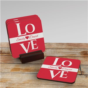 Love Personalized Coasters | Romantic Home