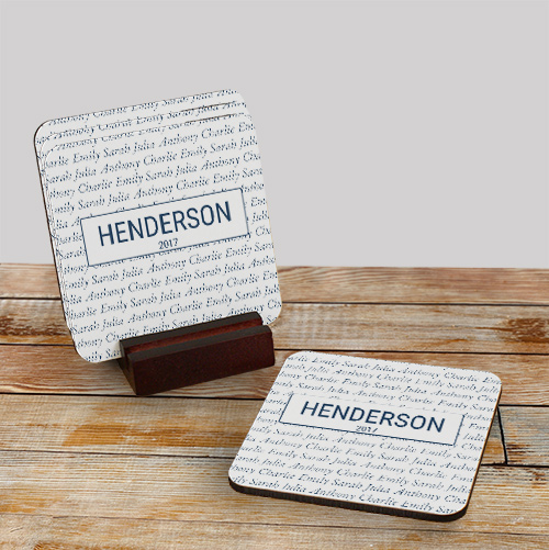 Our Family Personalized Coasters | Customized Bar Gifts