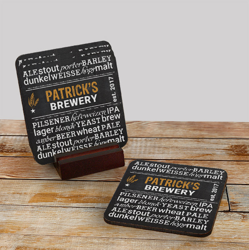 My Brewery Personalized Coasters | Personalized Barware