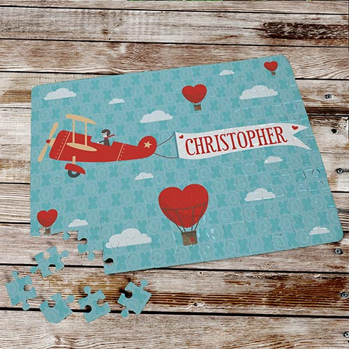 Personalized Up in the Air Puzzle | Valentines Day Gifts For Kids