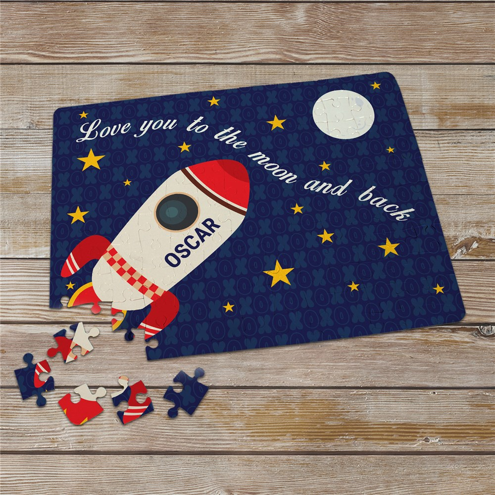 Personalized Love You To The Moon and Back Puzzle | Valentines Day Gifts For Kids