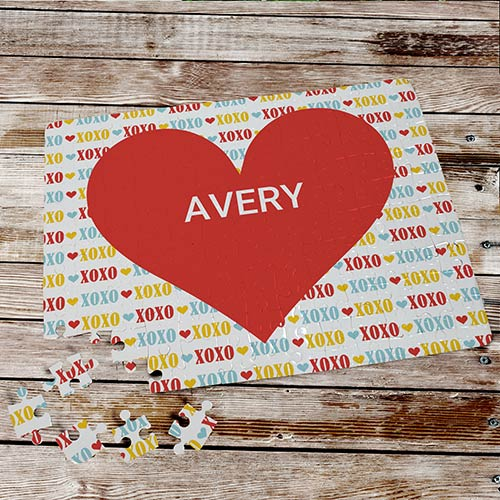 Red Hearts Personalized Puzzle | Personalized Kids Gifts For Valentine's Day