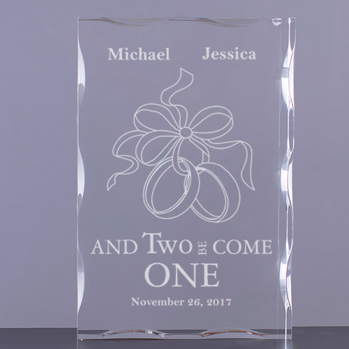 And Two Be Come One Keepsake Block
