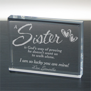 God's Way of Proving... Personalized Keepsake | Personalized Sister-In-Law Gifts
