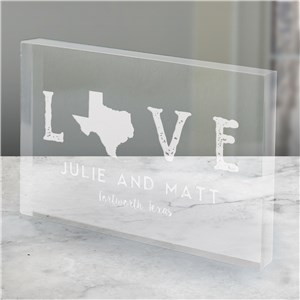 Engraved Love Established Acrylic Keepsake | Personalized Gifts For Couples