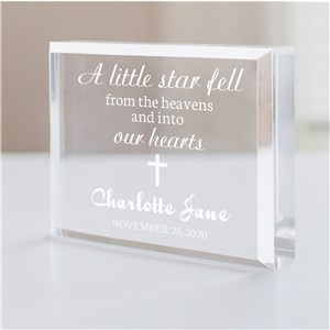 Personalized Baptism Keepsake For Baby | Engraved Baptism Keepsake