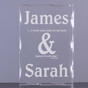Couples Romantic Keepsake Block
