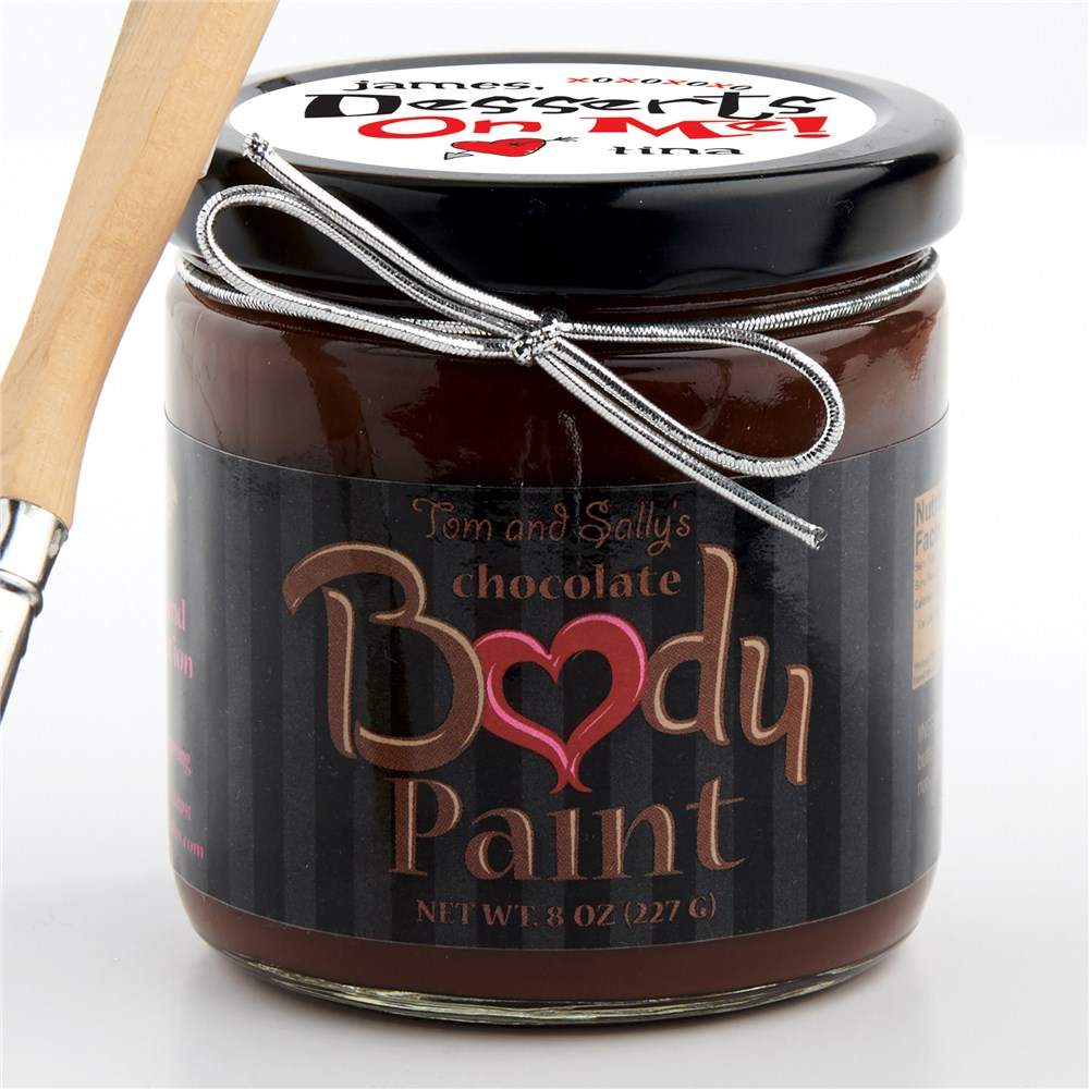 Desserts on Me Chocolate Body Paint | Personalized Body Chocolate
