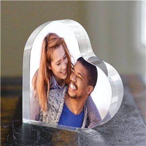 Personalized Photo Acrylic Heart Keepsake | Personalized Valentine's Day Gifts
