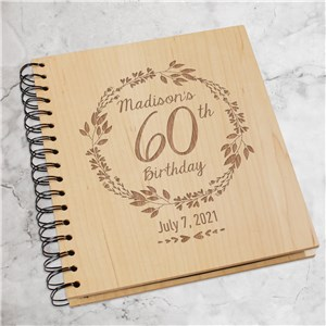 Engraved Happy Birthday Wreath Photo Album | Birthday Photo Album