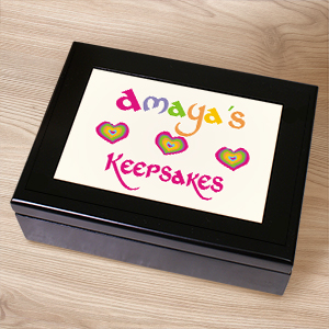 My Treasures Keepsake Box | Personalized Keepsake Box