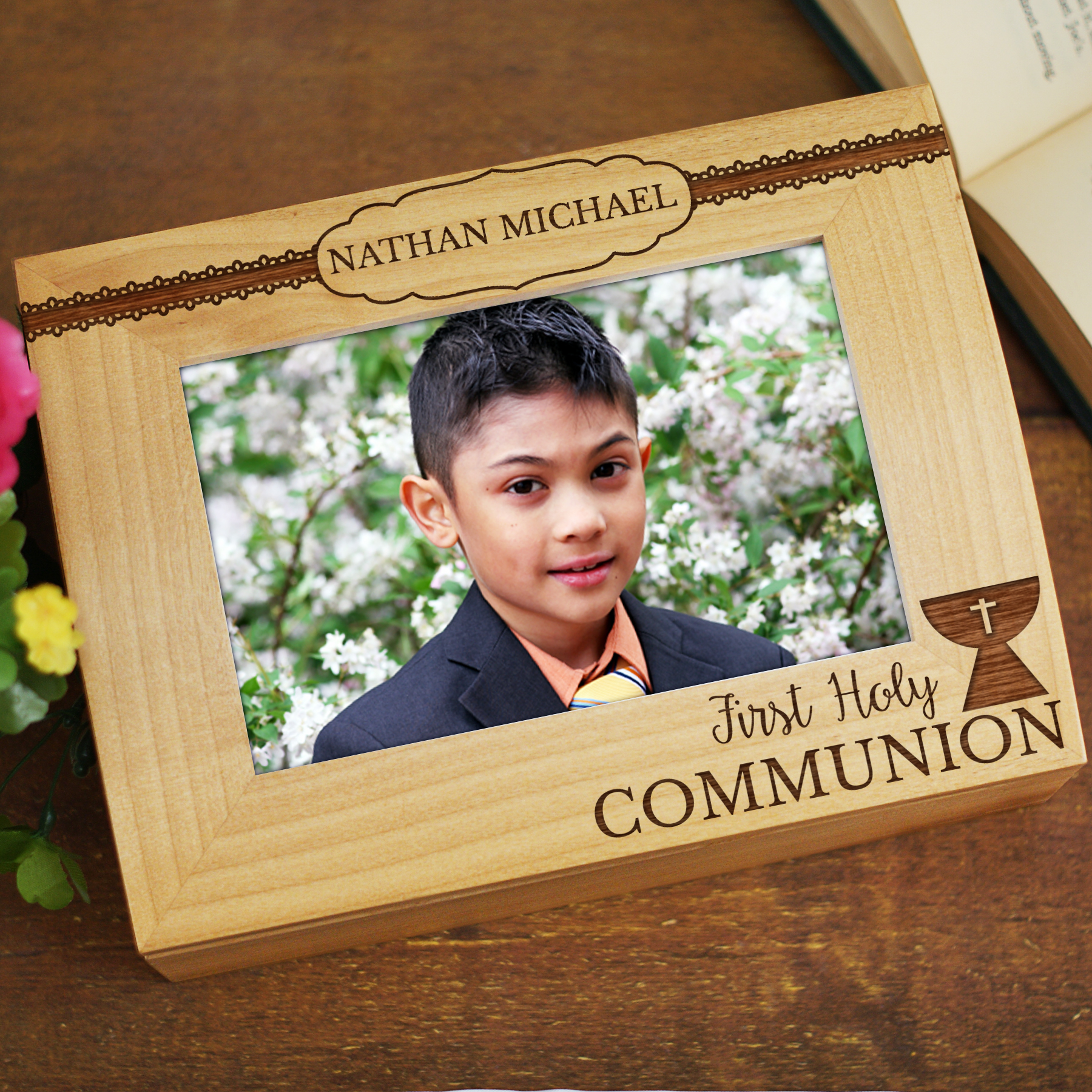 Engraved First Communion Keepsake Box 7125606