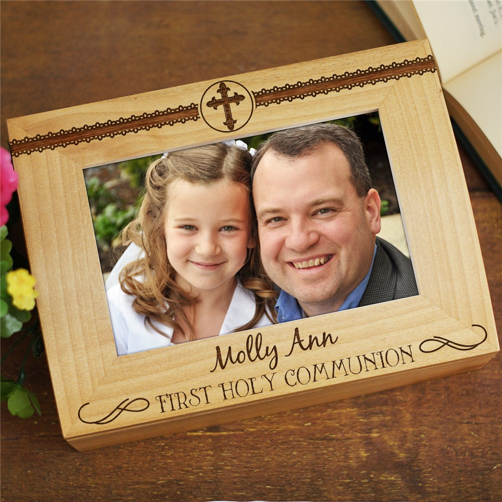 Personalized Wooden Keepsake Box | First Communion Gifts