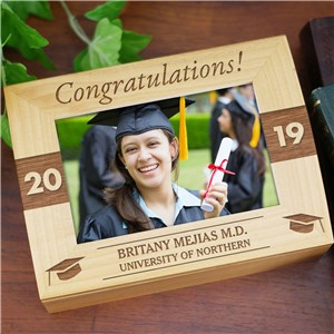 Engraved Congratulations Photo Keepsake | Personalized Keepsake Box