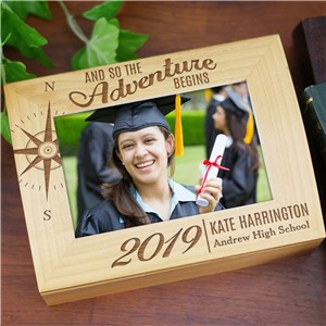 Engraved Adventure Begins Photo Keepsake | Personalized Keepsake Box