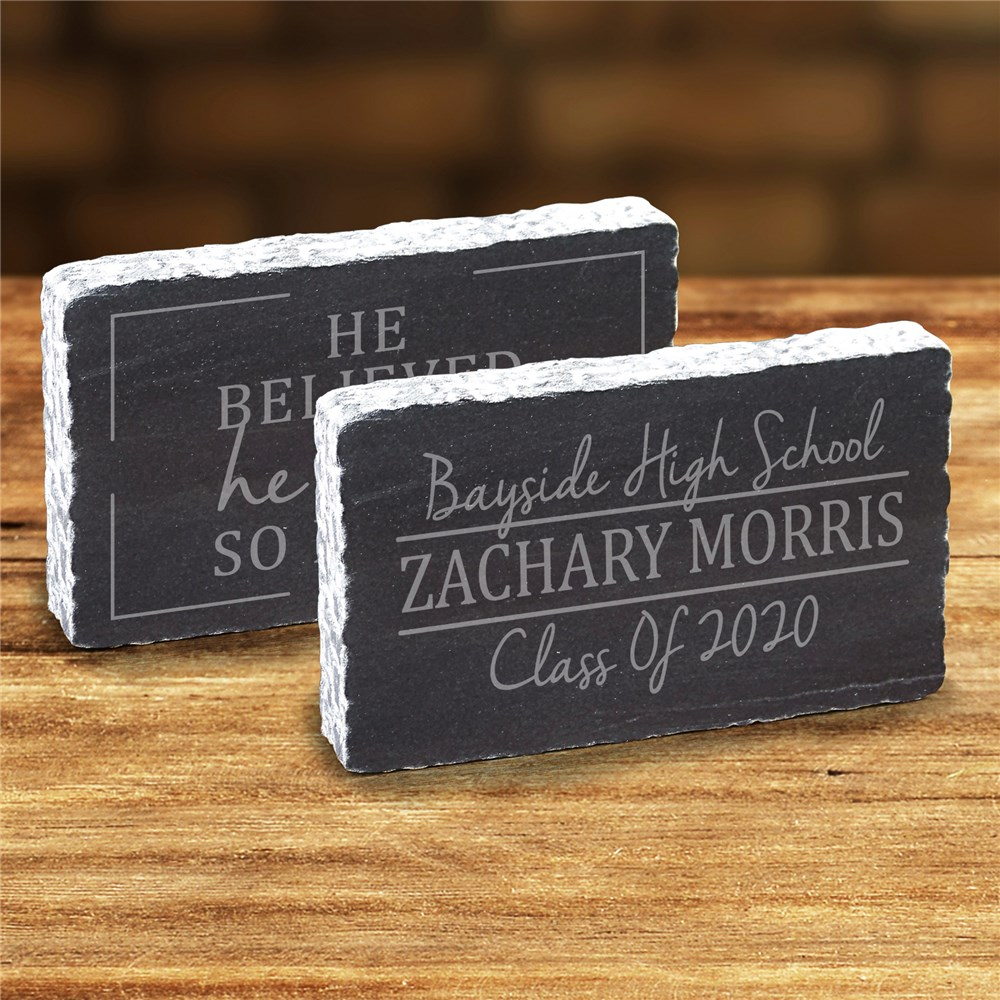 Engraved Believed-Could-Did Marble Keepsake | Engraved Keepsakes